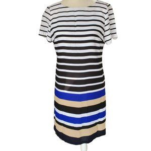 The Limited Knee Length Striped Lined Dress Sz 6